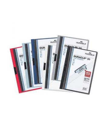 DURABLE Skoroszyt zaciskowy DURACLIP A4, 1-30 kartek czerwony