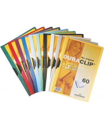 DURABLE Skoroszyt zaciskowy DURACLIP A4, 1-60 kartek żółty
