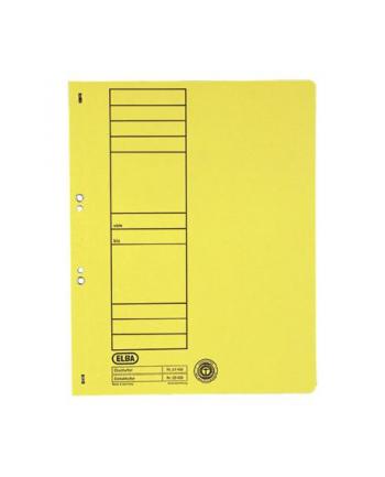 Skoroszyt oczkowy ELBA A4, żółty