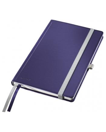 Notatnik w twardej oprawie Leitz Style A5, w kratkę, niebieski
