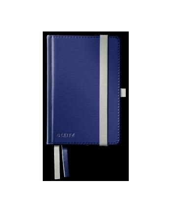 Notatnik w twardej oprawie Leitz Style A6, w kratkę, niebieski