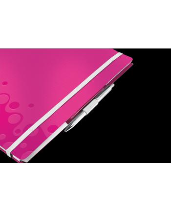 Notatnik z 3 zakładkami ''Be mobile'' Leitz WOW A4, w kratkę, różowy