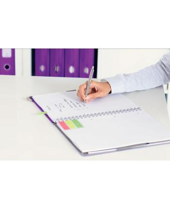 Notatnik z 3 zakładkami ''Be mobile'' Leitz WOW A4, w kratkę, fioletowy