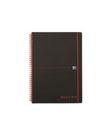 KOŁONOTATNIK OXFORD BLACK& RED A4 70K 90G KR5X5 PP