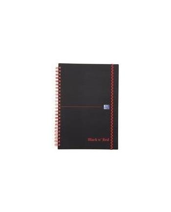 KOŁONOTATNIK OXFORD BLACK& RED A5 70K 90G L8M PP
