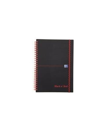 KOŁONOTATNIK OXFORD BLACK& RED A5 70K 90G KR5X5 PP