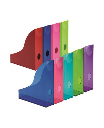 DURABLE BASIC pojemnik na katalogi A4, niebieski-przezroczysty