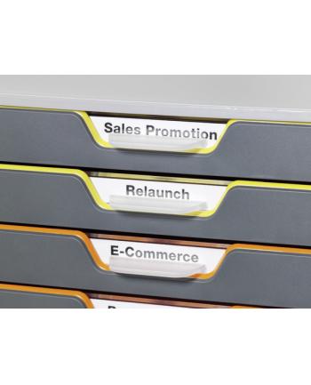 DURABLE VARICOLOR pojemnik z dziesięcioma kolorowymi szufladkami. Wymiary: 280x292x356 m