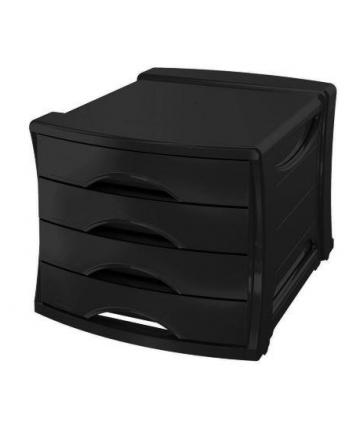 Esselte Pojemnik z szufladami z 4 szufladami Europost VIVIDA, czarny