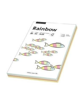 papier kolorowy  Rainbow mix pastelowy
