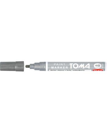 TOMA markery olejowe z farbą, końcówka 2,5mm - srebrne