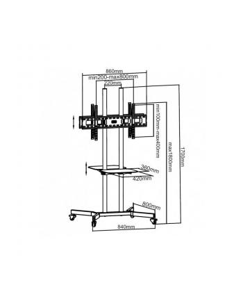 Techly Dwustronny stojak mobilny do TV LCD/LED/Plazma 37''-70'' VESA z półkami