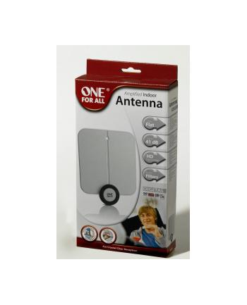 One For All OFA Antena wewnętrzna ze wzmacnieniem 41dB, HD-Ready, filtry przeciwzakłóceniowe