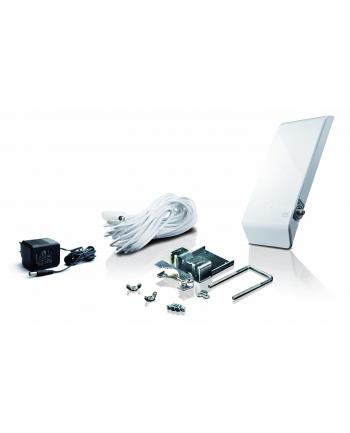 One For All OFA Antena zewnętrzna ze wzmacnienie sygnału 44dB, UHF/VHF, DVB-T, DVB-T2