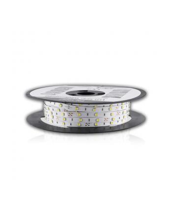 Whitenergy taśma LED 50m | 5050 | 7.2W/m | 12V DC | Biała | IP20