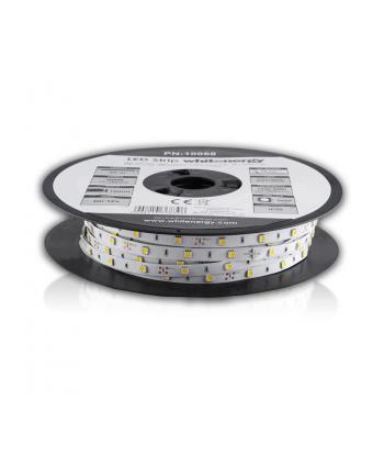 Whitenergy taśma LED 50m | 5050 | 7.2W/m | 12V DC | ciepła biała | IP20