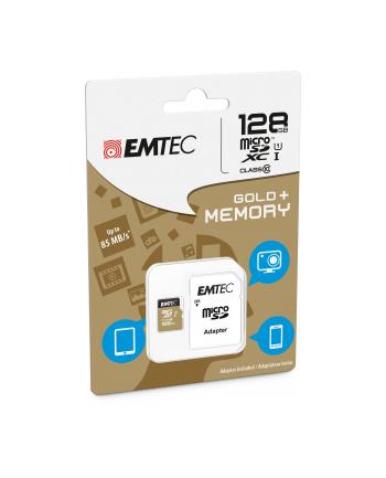 Emtec karta pamięci microSDXC 128GB Class 10 Gold+ (85MB/s, 21MB/s)