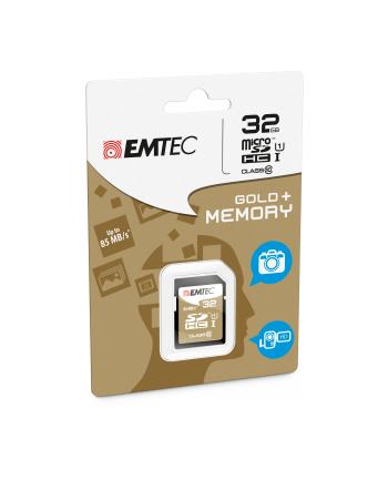 Emtec karta pamięci SDHC 32GB Class 10 Gold+ (85MB/s, 21MB/s)