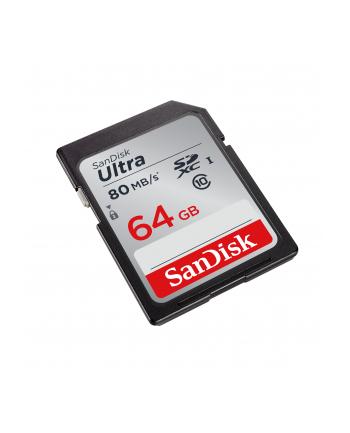 SanDisk karta pamięci Ultra SDXC 64GB Class 10 UHS-I, Odczyt: do 80MB/s