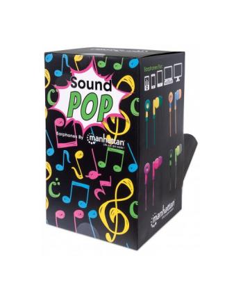 Manhattan Słuchawki douszne SoundPOP 40 sztuk w opakowaniu wystawowym