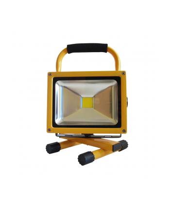 ART Lampa przenośna LED, 20W, IP65, 8.8 Ah, car plug, 230Vcharger, 4000K-white