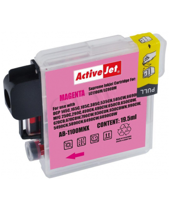 ActiveJet AB-1100M tusz magenta do drukarki Brother (zamiennik LC1100M  LC980M)