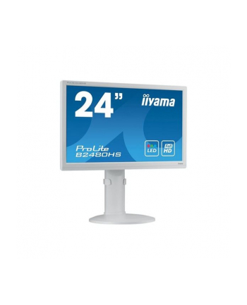 Monitor IIyama 24'' PL B2480HS-W2, 2ms,VGA,DVI,HDMI,pivot, kolor biały.