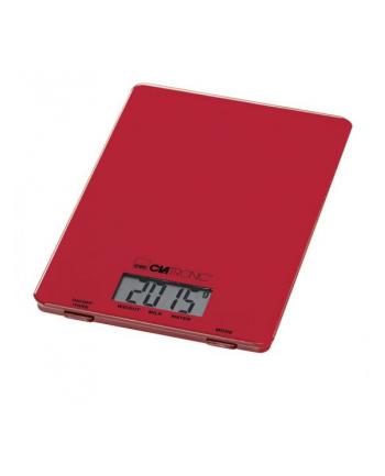 Clatronic Waga kuchenna szklana czerwona         KW 3626