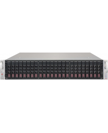 2U SuperChassis 216BE2C-R741JBOD, 2 x 740W 24 x 2.5'' hot-swap HDD bay