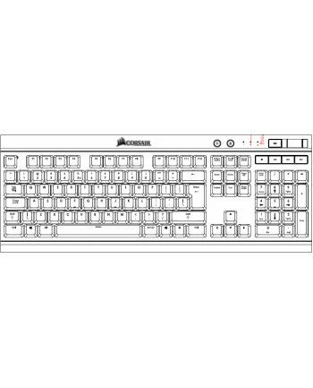 Corsair STRAFE RGB klawiatura mechaniczna Cherry MX Red (EU)