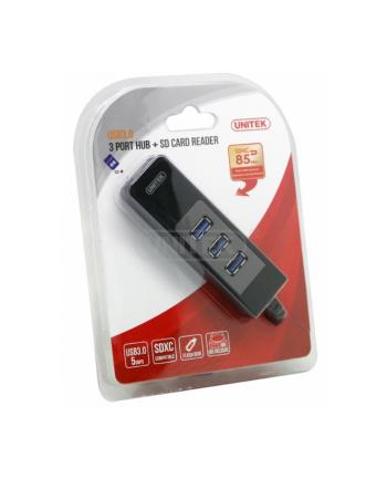 HUB 3x USB 3.0+ CZYTNIK KART SD; Y-3048