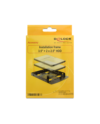 Delock adapter HDD sanki-szyna  3,5''-> 2x2,5''