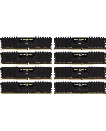 DDR4, 3000MHz 128GB 8 x 288 DIMM, Unbuffered, 16-18-18-36, Vengeance LPX Black Heat spreader, 1.35V, XMP 2.0, Corsair Vengeance Airflow Included