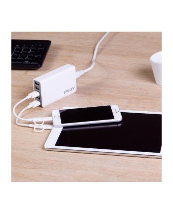 PNY Ładowarka do urządzeń mobilnych  MLT5 USB White P-AC-5UF-WEU01-RB