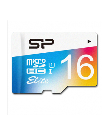 SILICON POWER 16GB, MICRO SDHC UHS-I, Class 10, with SD adapter, Color