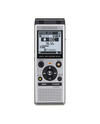 Olympus WS-852 Digital Voice Recorder with MP3 Player, 4GB internal memo,  inc. Batteries, Silver