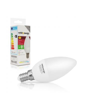 Whitenergy Żarówka LED   7xSMD2835  C37   E14   3W   230V  zimna biała  mleczne