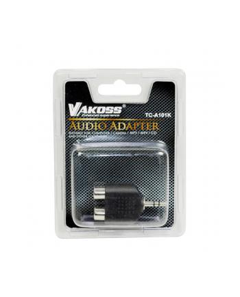 Vakoss Adapter audio minijack 3,5mm stereo -> 2x RCA F TC-A101K czarny