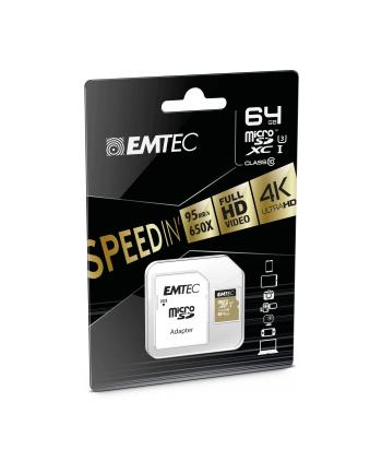 Emtec memory card microSDHC 64GB Class10 Speedin 95/90 MBs