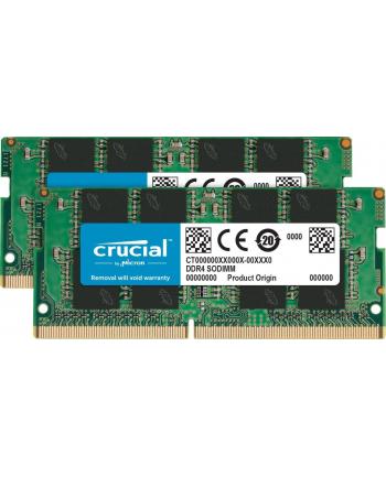 Crucial pamięć DDR4, 2x4Gb, 2400MHz, CL17, SRx8, SODIMM, 260pin