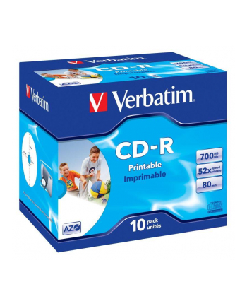 CD-R Verbatim 52x 700MB  (Jewel Case 10) WIDE PRINTABLE