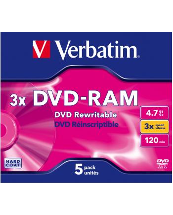 DVD-RAM Verbatim 3x 4.7GB (Jewel Case 5) MATT SILVER