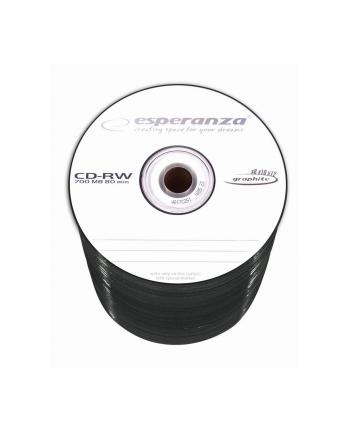 CD-RW ESPERANZA [ spindle 1   700MB   80 min 12x ]