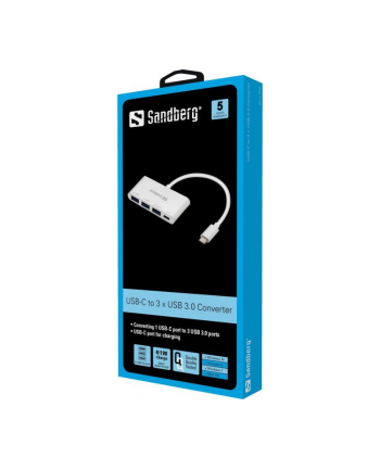 Sandberg Konwerter USB-C na 3 x USB 3.0