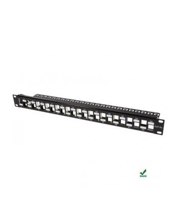 Intellinet Pusty 24-portowy panel do modułów Keystone 1U 19'' z organizerem