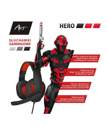 ART SŁUCHAWKI GAMINGOWE Z MIKROFONEM HERO USB