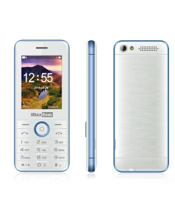 MaxCom MM136, Telefon GSM, Telefon Komórkowy Dual Sim, Biało-Niebieski