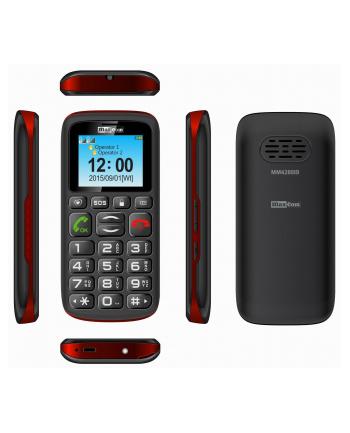 MaxCom MM428BB, Telefon GSM, Telefon Komórkowy Dla Seniora, Czarno