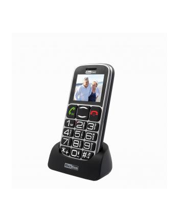 MaxCom MM462BB, Telefon GSM, Telefon Komórkowy Dla Seniora, Czarno-Srebrny