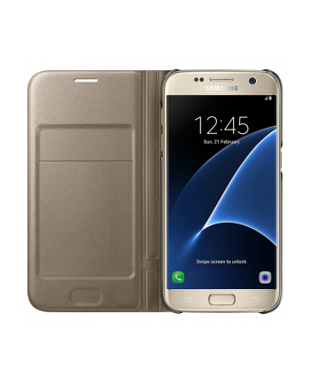 Led View Cover Galaxy S7 Gold